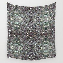 Sparkly colourful silver mosaic mandala Wall Tapestry