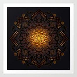 """Warm light Moroccan lantern Mandala"" Kunstdrucke"