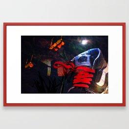 late nights, early mornings Framed Art Print