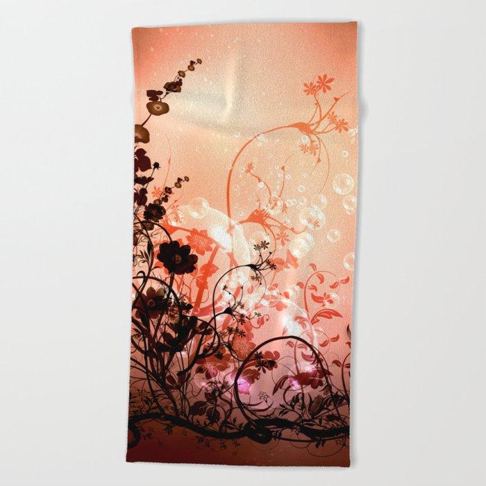 Wonderful flowers  Beach Towel