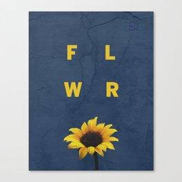 Concrete Sunflower Canvas Print