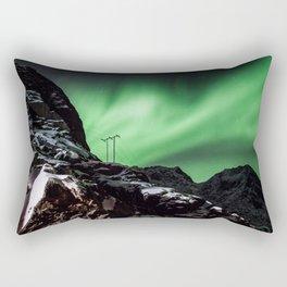 Aurora in Lofoten, Norway (II) Rectangular Pillow
