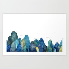 the moutains are comming Art Print