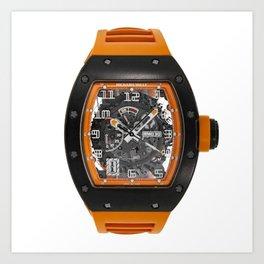 Richard Mille RM030 Americas Limited Edition Orange Black Carbon Watch Art Print