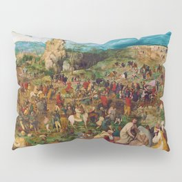 The Procession to Calvary by Pieter Bruegel the Elder (1564) Pillow Sham
