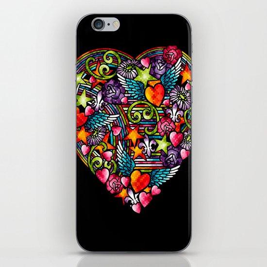 my heart has wings iPhone & iPod Skin
