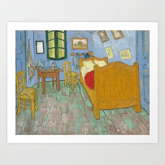 vincent van gogh the bedroom in arles art print by elegant chaos