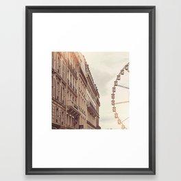 Paris Ferris Wheel Framed Art Print