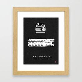 Kurt Vonnegut Jr. quote Framed Art Print