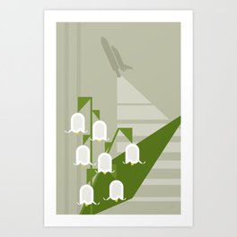 Flowers & Shuttles: Lily of the Valley Art Print