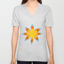 Vintage flower Unisex V-Neck