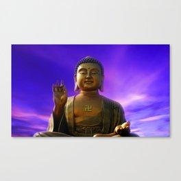 Buddha Blue Dawn Canvas Print