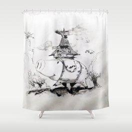 Boar Hat Shower Curtain