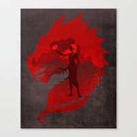 mother of dragons Canvas Prints featuring The Mother of Dragons by ChrisAbles