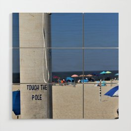 Touch  the Pole Wood Wall Art