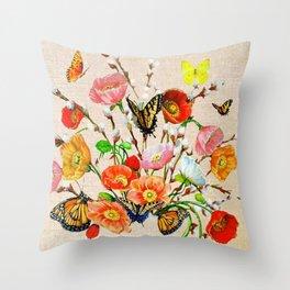 Butterfly Bouquet  Throw Pillow