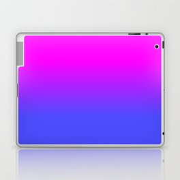 Neon Blue and Hot Pink Ombré Shade Color Fade Laptop & iPad Skin