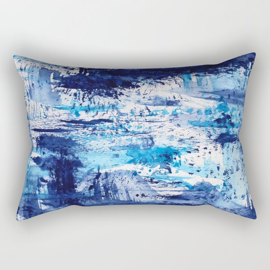 Blue passion || watercolor Rectangular Pillow