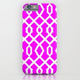 Grille No. 3 -- Violet iPhone Case