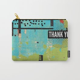 Thank You Digital Art Collage Carry-All Pouch