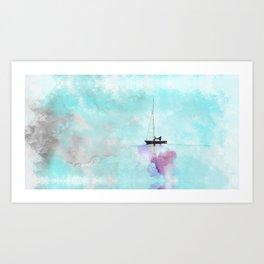 Watercolors ship Art Print
