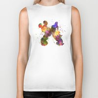 donald duck Biker Tanks featuring Mickey Mouse and Donald Duck in watercolor by Paulrommer
