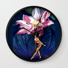 FLOWER BOMB Wall Clock