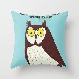 Canada Owl vintage poster Throw Pillow