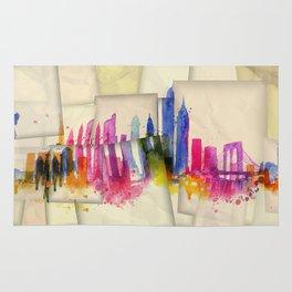 Color New York Skyline 01 Rug