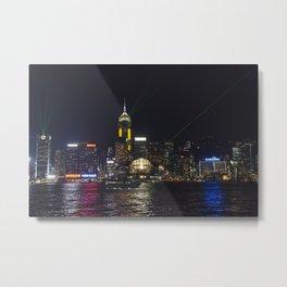 Hong Kong Symphony of Lights Metal Print
