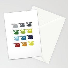 Neon Pop Art Retro Sloth Animal Gift Idea Stationery Cards