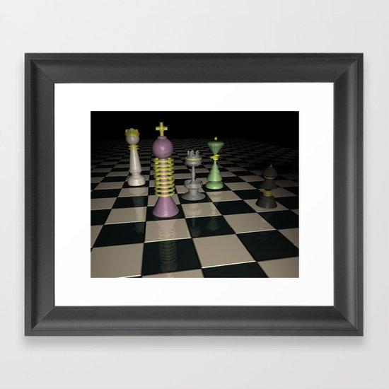 Chess Set. Framed Art Print