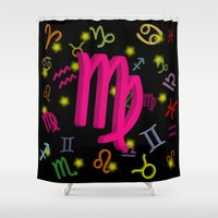 virgo Shower Curtains featuring Virgo by The Image Zone