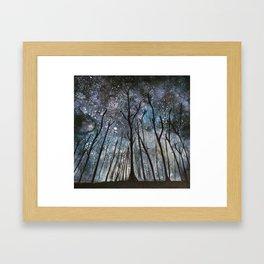 The Woods at Midnight Framed Art Print