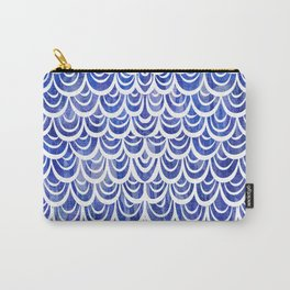 Watercolor Mermaid Blue Sapphire Carry-All Pouch
