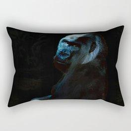 Humanity - Mountain Gorilla in Moonlight Rectangular Pillow