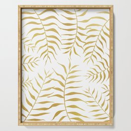 Gold palm leaves Serving Tray