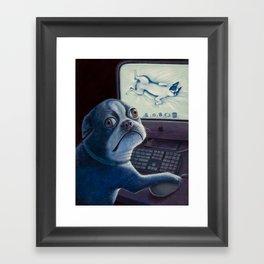 Bad dog! Framed Art Print