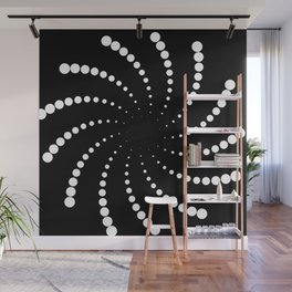 monochrome spiral Wall Mural