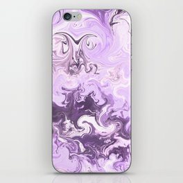 Abstract modern lavender burgundy watercolor marble pattern iPhone Skin