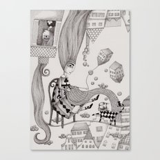 Falling Up Canvas Print
