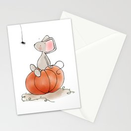 Little Mouse - Pumpkin  Stationery Cards