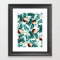 Fruit and Leaf Pattern Framed Art Print