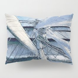 Nautical Sailing Adventure Pillow Sham