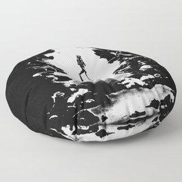 Scuba Diver Fine Art Print Floor Pillow