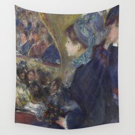 At the Theatre (La Première Sortie) by Renoir Wall Tapestry
