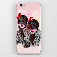 gemini iPhone & iPod Skins featuring Gemini by Felicia Cirstea