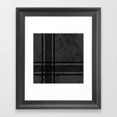 Grungy Grey Plaid Framed Art Print