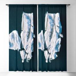 Lone, minimalist Iceberg from above - Landscape Photography Blackout Curtain