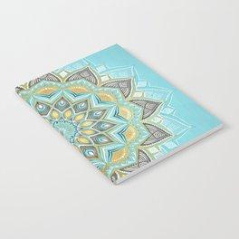Cyan & Golden Yellow Sunny Skies Medallion Notebook